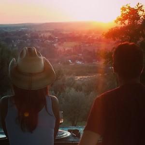 Beautiful sunset ride.